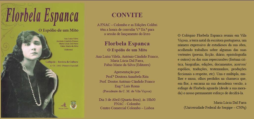 Convite_Florbela Espanca Espolio de um Mito